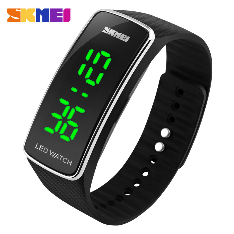 women candy fashion digital sports watches electronic led touch watch product silicone clear jelly men new
