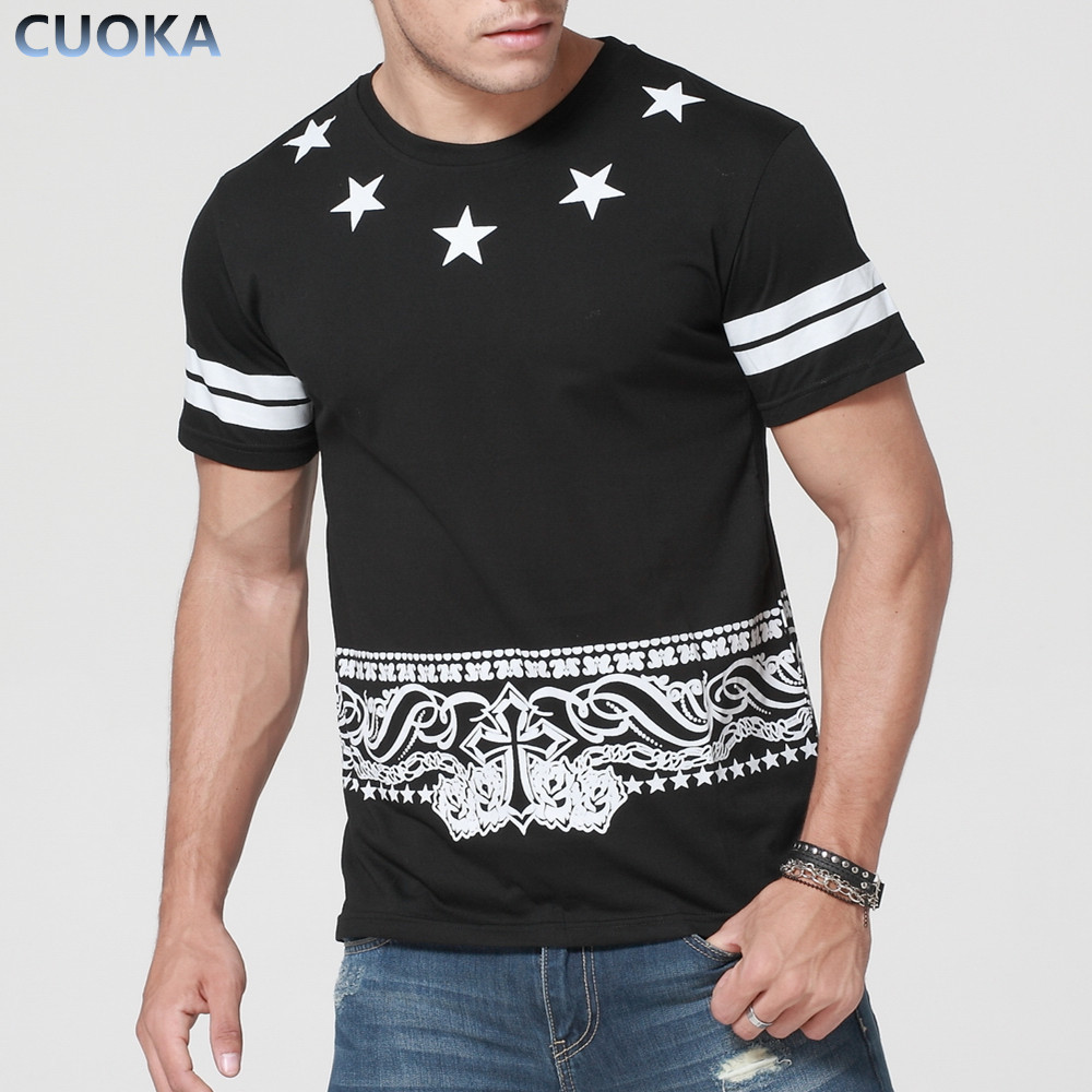 2015 summer new hip hop men t shirt short sleeve o neck for Mens t shirts free shipping