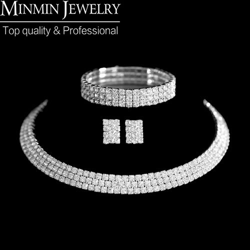 New 2014 Classic Circle Czech Rhinestone Crystal Wedding Jewelry Sets  African Jewelry Set Necklace Earrings Bracelet 3ab8737ce2c0