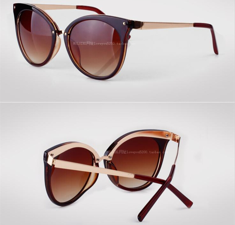 6dc51adc3 2014 New cat eye sunglasses women Brand Fashion spectacles ...