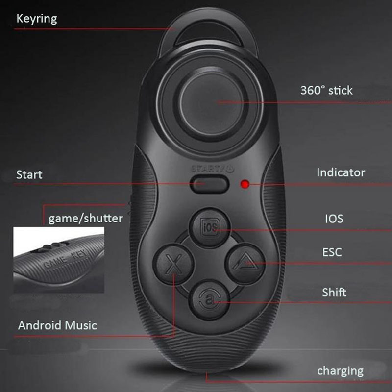 Shinecon Vr Virtual Reality 3d Glasses Headset Oculus Rift Head Mount Movie Game 3 5 6 0 Inch Phone Bluetooth Remote Control Wassup Top Shopping