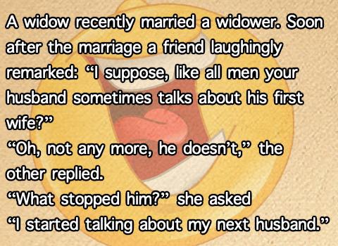 funny widow joke