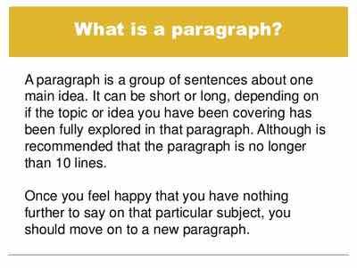 what's a paragraph