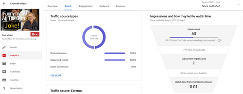 analytics for more youtube views